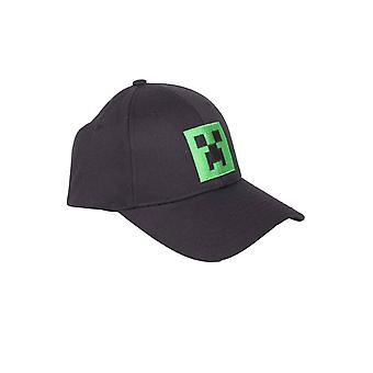 Minecraft Baseball Cap Creeper Head Logo new Official Gamer Black Adult Snapback