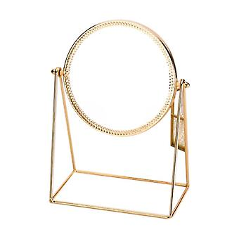 Creative Metal Maquillage Dektop Round Mirror