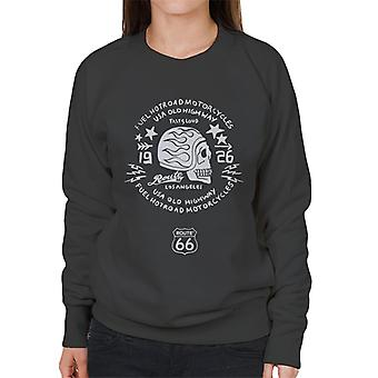 Route 66 USA Old Highway Motorcycles Women's Sweatshirt