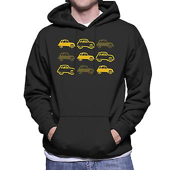Citro?n Vintage 2CV Pattern Men's Hooded Sweatshirt