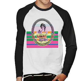 Pepsi Cola Lady portret glitch kunst mannen honkbal lange mouwen T-shirt