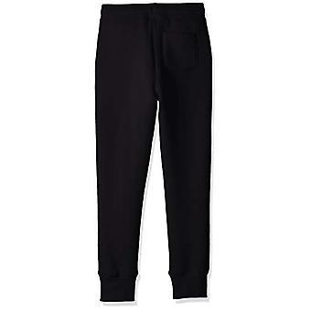 Essentials Girls' Big Fleece Jogger, Black, Large