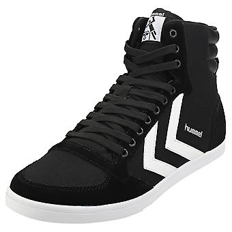 hummel Slimmer Stadil High Mens Casual Trainers in Black White