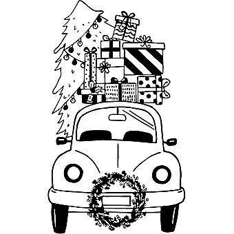 Aladine خشبية ختم عيد الميلاد سيارة
