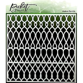 Picket Fence Studios Knots Scales Stencil