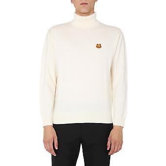 Kenzo Fa65pu5383ta03 Men's White Wool Sweater