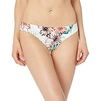 Bikini Lab Junior's Cinched Back Hipster Pant Bikini Bottom, White, M