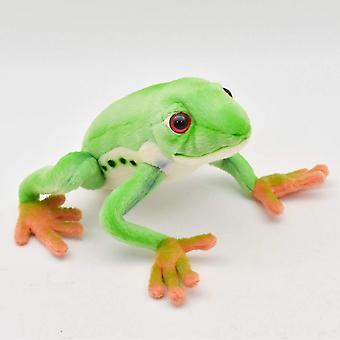 Plush - Hansa - Red Eyed Tree Frog 7'' L Soft Doll New 5218