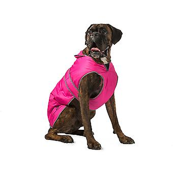 Ancol Muddy Paws Stormguard Fleece Lined Coat & Chest Protector - Pink - X-Small