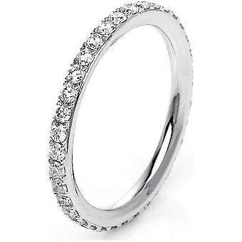 خاتم الماس - 18K 750/- الذهب الأبيض - 0.75 قيراط. مقاس 54