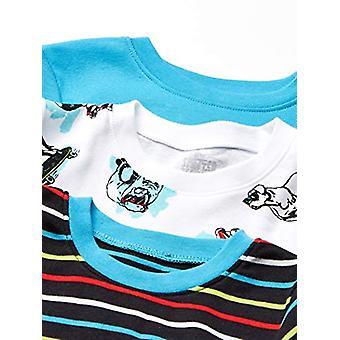 Brand - Spotted Zebra Kid's 6-Piece Snug-Fit Cotton Pajama Set, Skate ...