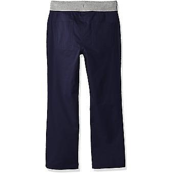 Brand - Spotted Zebra Boys' Big Kid Knit Waistband 5-Pocket Pants, Nav...