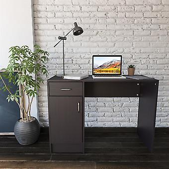 Black Desk with Drawer & Cupboard for Home Office - Piranha Furniture Javelin