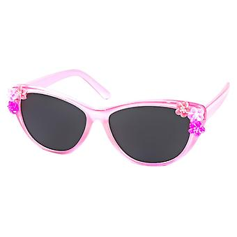 Sunglasses girl with flowers girl pale pink