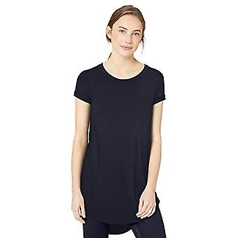 Brand - Daily Ritual Women's Jersey Short-Sleeve Open Crew Neck Tunic,...