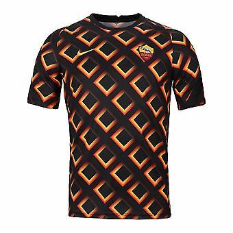 2020-2021 AS Roma Nike Pre-Match Trainingsshirt (Zwart)