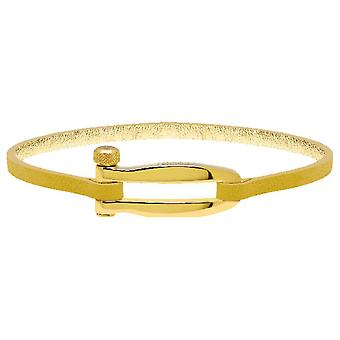 Rochet B25670109 - BOHEME PVD Yellow - Yellow Leather Link Mat Femme