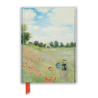Claude Monet Wild Poppies near Argenteuil Foiled Journal by Created by Flame Tree Studio