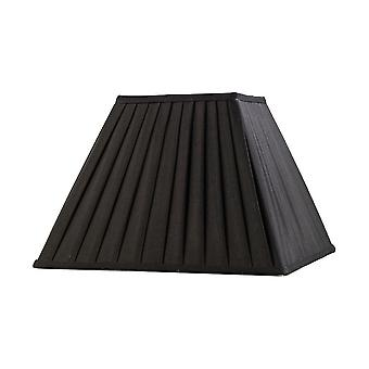 Square Pleated Fabric Shade Black 175, 350mm x 250mm
