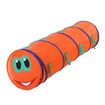 Kids Crawling Tunnel Caterpillar Shape Crawling Tent Indoor Outdoor Play Game