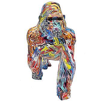 Graffiti Gorilla Large Figurine Ornament