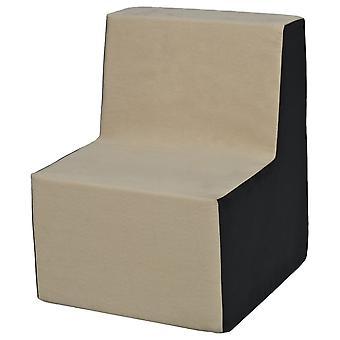 Høj stol møbler skum beige & grå
