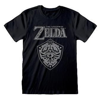 Nintendo Unisex Vuxen Legend om Zelda Shield T-shirt