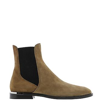 Jimmy Choo Rourkeflatsueclove Women's Brown Suede Ankle Boots