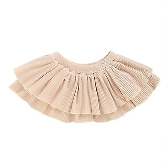 Newborn Floral/solid Print- Elastyczna spódnica w talii z szortami