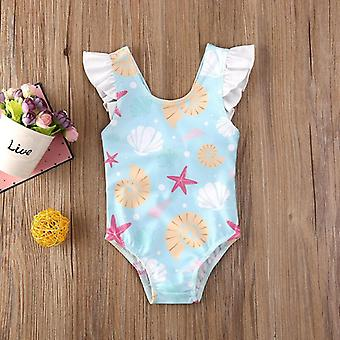 Cute Toddler One Pieces Swimsuit Kids Baby Bow Bikini Swimwear Bathing Suit