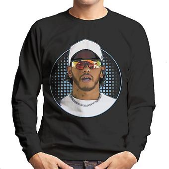 Motorsport Images Lewis Hamilton Wearing Sunglasses Design Men's Sweatshirt