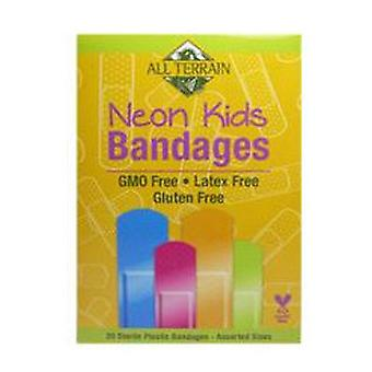All Terrain Neon Kids Bandages, Bambini, 25 Pc