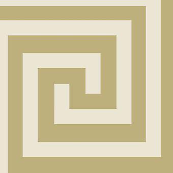 Athena Geometric Wallpaper Champagne / Gold Debona 4012