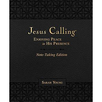 Jesus Calling NoteTaking Edition Leathersoft Black with full Scriptures by Young & Sarah