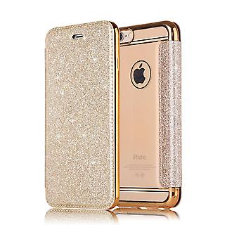 Leather Case for Samsung Galaxy Note 8 Gold honghaowei-476