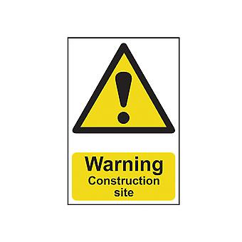 Scan Warning Construction Place - PVC 200 x 300mm SCA0958