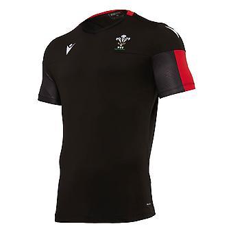 2020-2021 Wales Camisa de Entrenamiento En Seco (Negro)
