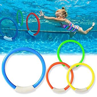 4pcs/set Kids, Underwater Sports Swimming Pool Dive Game Rings- Piscine
