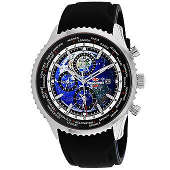 Seapro Men's Meridian World Timer GMT Blue Dial Watch - SP7520