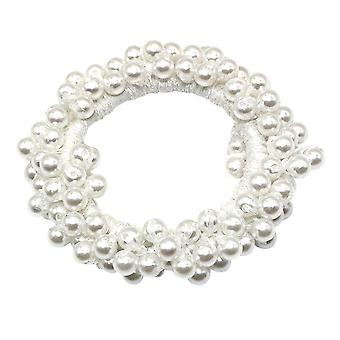 Hair band with Beads - White