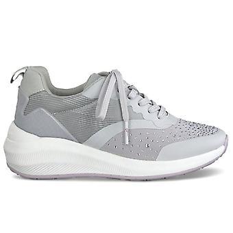 Sneaker gris Tamaris Fashletics femmes avec strass