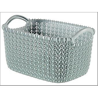 Curver Knitted Basket Rectangular Misty Blue 3L 229304