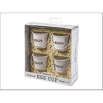 Eddingtons Egg Bucket Egg Cups Cream x 4 83012