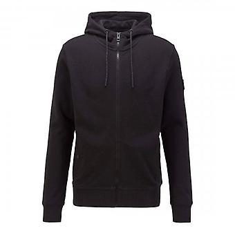 Boss Orange Hugo Boss Zounds 1 Zip Up Hoody Sweatshirt Sort 001 50426651