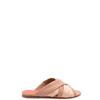 Santoni Ezbc023031 Women's Brown Suede Sandals