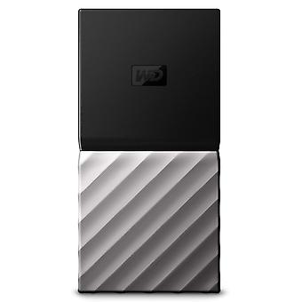 Wd my passport 256 gb portable ssd up to 540 mb/s read- black/silver new generation