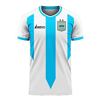 Argentinië 2020-2021 Home Concept Football Kit (Libero) - Adult Long Sleeve