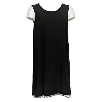 Attitudes by Renee Women's Top Como Jersey Tunic Black A353138