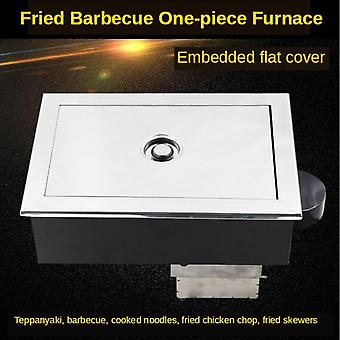 Elektrische Fried Barbecue Einteilige Rand ofen Barbecue Kochen Teller Deep Frying Pan