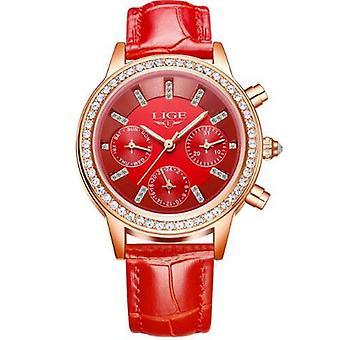 Fashion Women Watches, Ladies Top Brand, Luxury Stainless Steel, Calendar Sport